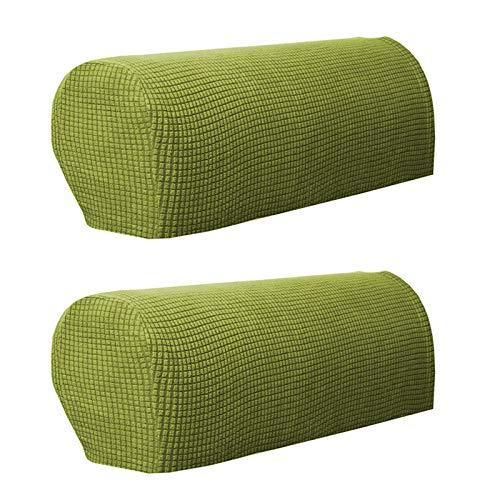 ZPFDM Una Cubierta de reposabrazos de sofá Cama, sillones reclinables sillones de Tela, Cubiertas de Protector Antideslizantes para sofá sofá Spandex Jacquard,Verde