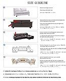 HYSENM 1/2/3/4 Sitzer Sofabezug Sofaüberwurf Stretch weich elastisch farbecht Blumen-Muster, Beige 1 Sitzer 85-140cm - 5