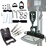 TWSOUL Bench Drill Locator Set, Square Hole Chisel Drilling Machine Woodworking Bench Mortiser Location Tool, Mortising Attachment Kit for Mortising Chisels Tenoning Drilling Machine