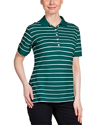 Jack Wolfskin Kinder Shirt Riverton OC Polo W, Green Lake Stripes, S