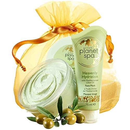 Avon Planet Spa Verwöhnset für Gesicht & Körper mit mediteranem Olivenöl Körpercreme/Gesichtsmaske