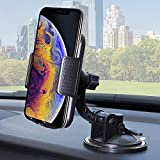 BESTRIX Phone Car Holder for Dash & Windshield | Car Phone Holder Mount for Dashboard Compatible with iPhone 11Pro Xr Xs XS MAX X 8 8Plus 7 6Plus Galaxy Note S7 8 9 10 & All Smartphones up to 6.5'