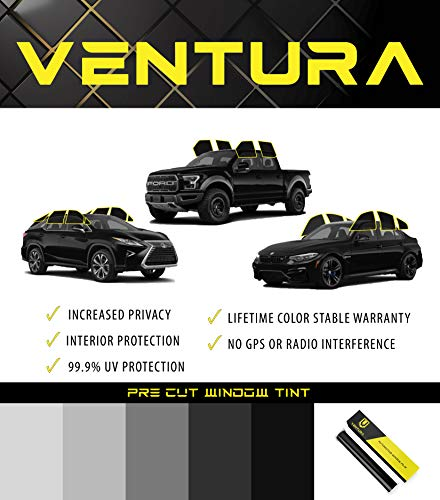 RPFILMS Two Front Windows Pre Cut Customizable DIY Tint Kit - Ventura Films Car Auto Commercial Self Adhesive and Heat Resistant Film