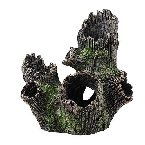 TOPINCN 水槽 アクアリウム 飾り トンネル 装飾 オーナメント かくれ流木 朽木 水族館 流木 装飾 人工樹脂 木 水槽の飾り用(ST-004A)