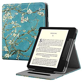 Fintie Flip Case for All-New Kindle Oasis  10th Generation 2019 Release and 9th Generation 2017 Release  - Multi Angle Hands Free Viewing Stand Cover with Auto Sleep Wake Blossom