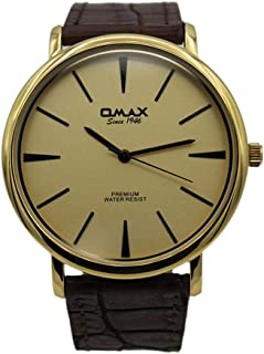 Omax Dress Watch For Men Analog Leather - 0SX7011QQ0