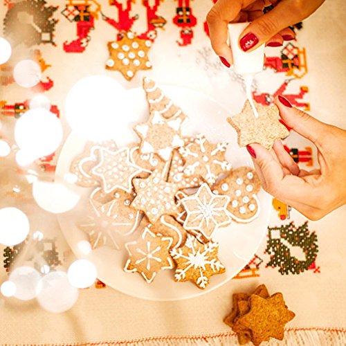 Hemore 10 pcs/lot en Acier Inoxydable Arbre de Noël Série Maison de Cuisine DIY Moule à Biscuit Dessert Bakeware Moule à Cake Moules