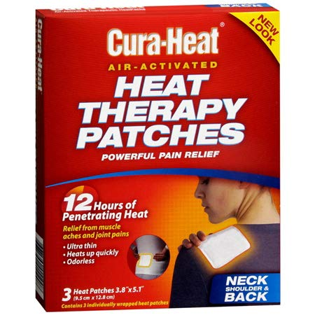 Cura-Heat Heat Therapy Patches for Neck Shoulder & Back - 3 ct, Pack of 6