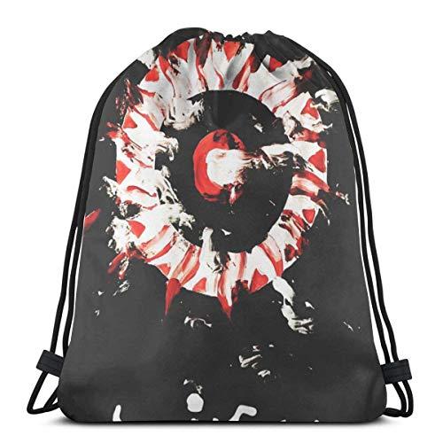 Elegante mochila escolar universitaria, mochila para mujeres, niñas, negocios, viajes, clásico, Alice en cadenas, con cordón, bolsa de gimnasio