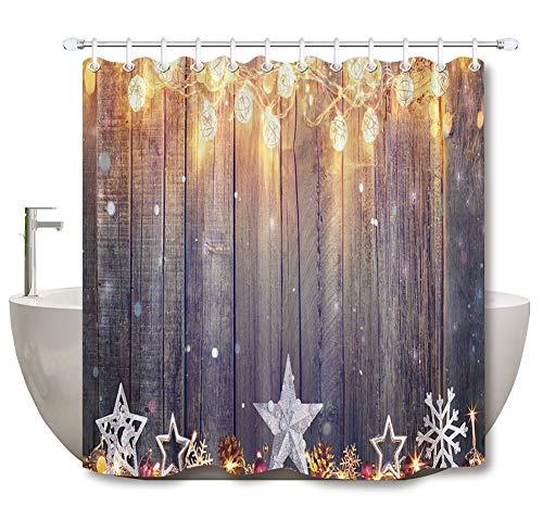 ZZZdz feestdagsdecoraties. lantaarn. Sneeuwvlok. Huisdecoratie. Douchegordijn. 180 x 180 cm. 12 vrije haken. 3D Hd-druk. Rijke patronen.