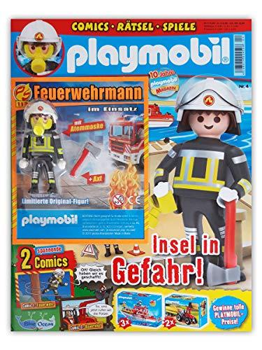 Playmobil Sammelmagazin Nr. 4/2019 inkl. Comics Rätsel Poster und limitierter Figur Feuerwehrmann