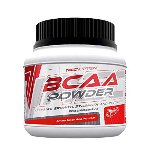 TREC Nutrition BCAA Powder 200G | Branched Chain Amino Acids + Vitamin B6 | Anabolic & Anticatabolic | Recovery | Bodybuilding Food Supplement | Pre-Workout