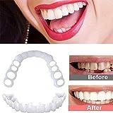Dientes cosméticos temporales Smile Fit New Snap On Flex Se Adapta a los Dientes postizos más cómodos Cubierta Superior Inferior para Dientes Falsos, Kits de blanqueamiento Dental