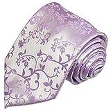 Paul Malone Krawatte lila flieder geblümte Hochzeitskrawatte Bräutigam