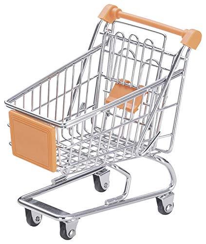 ちどり産業(Tidorisangyou) バスケット オレンジ 12.5X9.5Xh10cm ワイヤーショッピングカート型バスケット 55-99OR