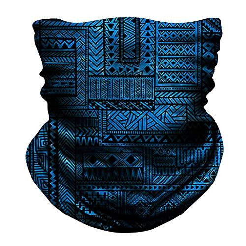 Seamless Scarf Bandanas,Bandana Face Headband Women Men for Dust Wind Sun Protection Face Bandanas for Dust, Outdoors, Festivals, Sports (# C)