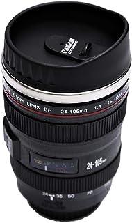 Caniam Metal and Plastic Camera Lens with Cover Coffee Mug