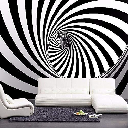 4D Behang muurschilderingen, moderne abstracte zwarte en witte swirl Hd kunstdruk Lmodern abstracte zwarte en witte swirl Hd kunstdruk formaat fotobehang poster voor huis woonkamer slaapkamer 116in×192in 290cm(H)×480cm(W)