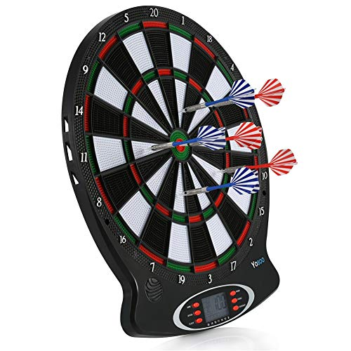 lahomie Dartscheibe,1pc Professional elektronische hängende Dartscheibe LCD Scoring Indicator Dart Spiel mit 6pcs Darts
