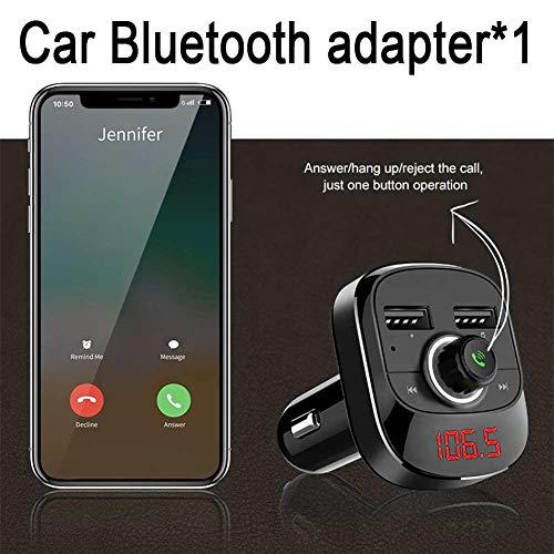 chlius Trasmettitore FM Bluetooth, Adattatore Audio per autoradio Lettore MP3 Kit Vivavoce per Auto con Doppie Porte USB Display a LED 5V / 3.1A Voltaggio per Auto Gioco TF Card/USB Flash Drive