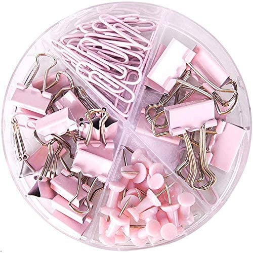 Paper Clips and Binder Clips Push Pins Set and...