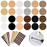 648 Pieces Adhesive Screw Hole Covers Stickers PVC Cover Caps 12 Colors Waterproof Wood Textured Cover for Wall Cabinets Desk Screws Furniture Repairing (Chic Style)