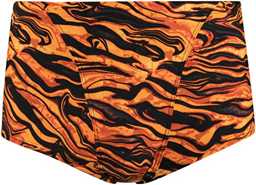 TYR Miramar Allover Trunk Herren Black/orange Größe DE 34 | US 30 2018 Badehose