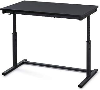 アイリスオーヤマ パソコンデスク PCデスク 昇降デスク 昇降サイドテーブル おしゃれ デスク 机 オフィス 幅100cm UDD-1000 ブラック