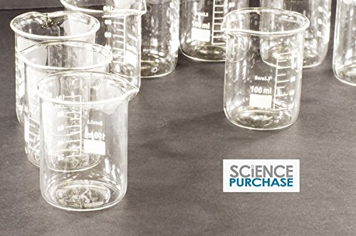 Science Purchase Glass Beakers, 100ml Pack of 12