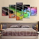 sanzangtang Rahmenlose Malerei Inneneinrichtung Wandkunst HD-Drucke HD-Farbe Klavier Moderner Stil Nachtbett HintergrundZGQ2763 20x35cmx2, 20x45cmx2, 20x55cmx1