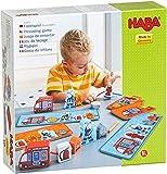 HABA- Jeu de laçage Pompiers, 304652, Coloré