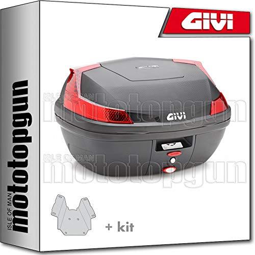 givi maleta blade b47nml + porta-equipaje compatible con piaggio vespa lx 125-150 2011 11