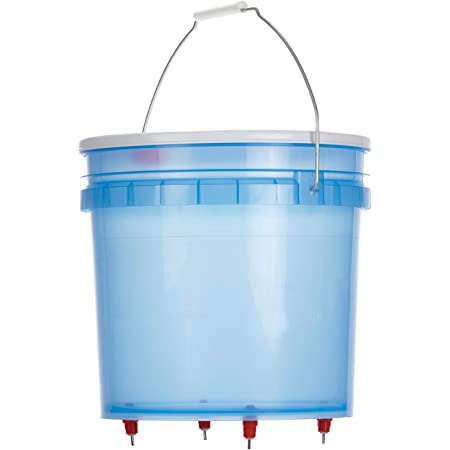 Little Giant Hen Hydrator (3.5 Gallon) Durable Transparent Plastic Poultry Waterer with Water Nipples (Item No. HH35)