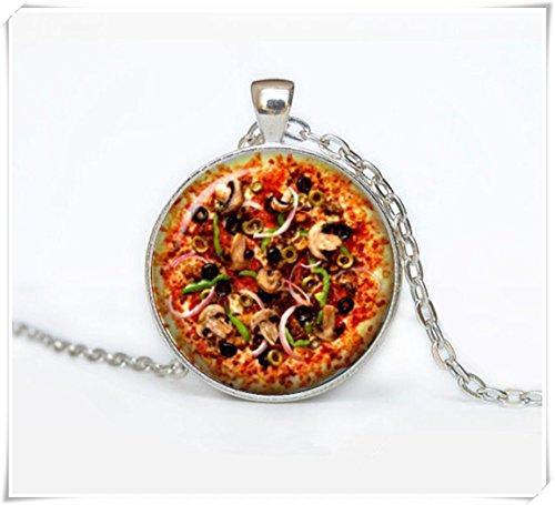 Beautiful Dandelion PIZZA Collar de pizza, regalo para mujer hecho a mano