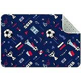 Bennigiry Alfombra sin costuras con pelota de fútbol y otros elementos, alfombra para sala de estar, dormitorio, sala de juegos, 35 x 24 pulgadas
