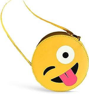 حقيبة بناتية جلد اصفر وجه مرح رموز الواتساب ايموجي