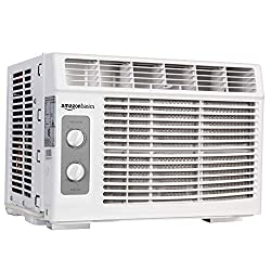 Image of AmazonBasics Window-Mounted Air Conditioner with Mechanical Control - Cools 150 Square Feet, 5000 BTU, AC Unit: Bestviewsreviews