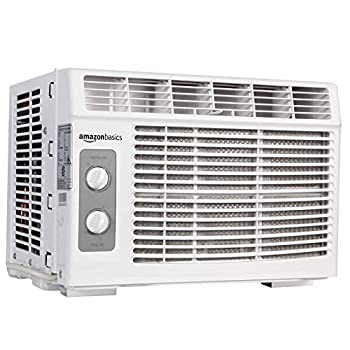 Amazon Basics Window-Mounted Air Conditioner with Mechanical Control - Cools 150 Square Feet 5000 BTU AC Unit