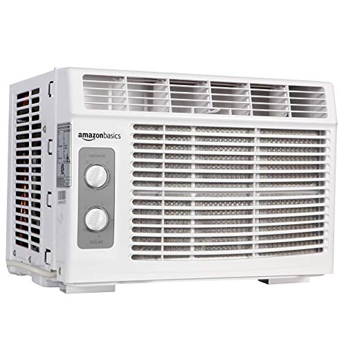 Amazon Basics Window-Mounted Air Conditioner with Mechanical Control - Cools 150 Square Feet, 5000 BTU, AC Unit