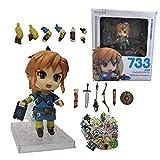 XINSHENG Zelda figura set Zelda Skyward Espada PVC Figura de Acción 1/7 Anime Juego Juguete Zelda Link Figurita Coleccionable Modelo Juguete