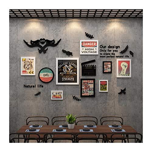Photo Frame WM 1.27 Papier peint autocollant en acrylique style industriel pour restaurant, thé au lait