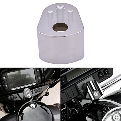 KATUR CNC Interruptor de Encendido Cubierta Motocicleta Accesorio CNC Cromo Borde Corte...