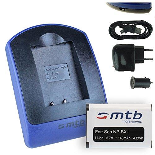 Baterìa + Cargador (USB/Coche/Corriente) Compatible con Sony NP-BX1 / HDR-AS50, AS200V / DSC-HX90(V), HX400, RX100 III, WX500 / X1000V. Ver Lista