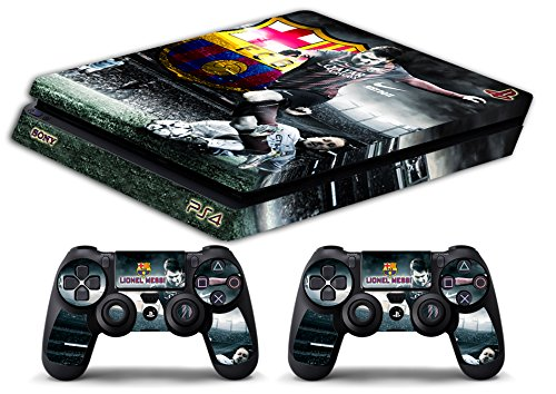 Skin Ps4 SLIM - LIONEL MESSI FC BARCELLONA - limited edition DECAL COVER ADESIVA Playstation 4 Slim SONY BUNDLE