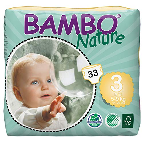 Product Image of the Bambo Nature Eco Friendly Baby Diapers Classic for Sensitive Skin, Size 3 (11-20...