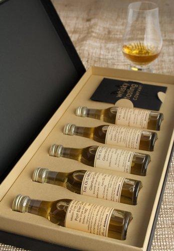 Whisky Tasting Set - Regions of Scotland - 5 x 30ml Malt Whiskies, plus a Glencairn Whisky Tasting Glass in Presentation Box