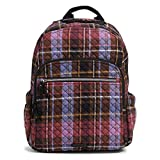 Vera Bradley womens Signature Cotton Campus Backpack Bookbag, Cozy Plaid, One Size US womens backpack Apr, 2021