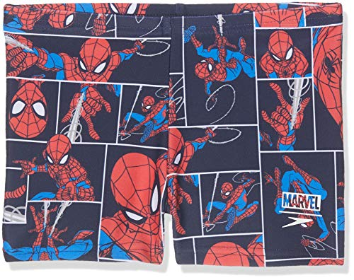 Speedo - Costume a pantaloncino da ragazzo Marvel Spiderman, Ragazzi, 805394C887, Spiderman Navy/Lava Red, 5 anni