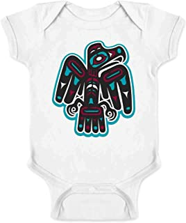 Native American Thunderbird Eagle Totem Symbol Art Infant Baby Boy Girl Bodysuit