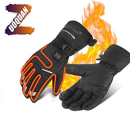 ZUOQUAN Winter Beheizbare Handschuhe, Skihandschuhe 5 Stufen Temperaturregelung Handwärmer Touchscreen Thermohandschuhe, Tragbarer Und Leichter Für Skifahren Radfahren Reiten Jagd Angeln,XL